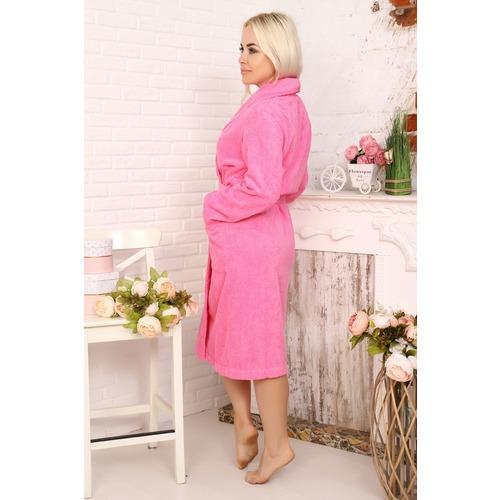 Халат Элит с воротником-шалькой женский 12941 цвет ярко-розовый р 50 фото 2