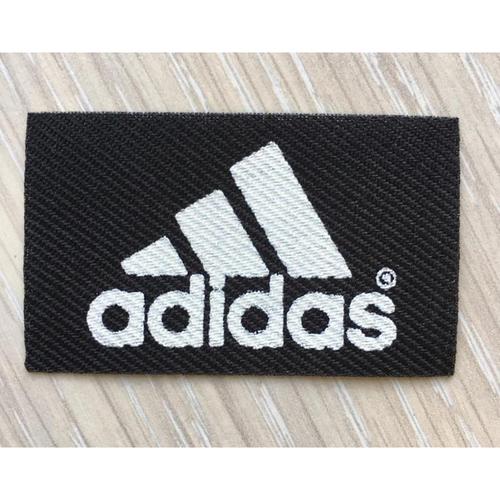 Нашивка Adidas черная 3*5см фото 1