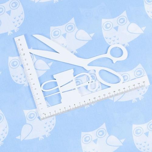 Ткань на отрез бязь плательная 150 см 1682/3 цвет голубой фото 2