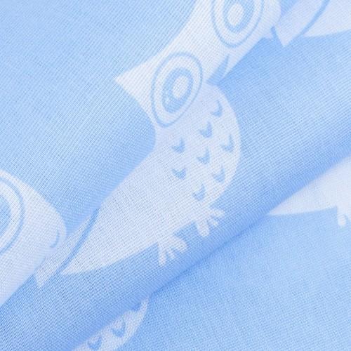 Ткань на отрез бязь плательная 150 см 1682/3 цвет голубой фото 3
