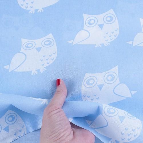 Ткань на отрез бязь плательная 150 см 1682/3 цвет голубой фото 4
