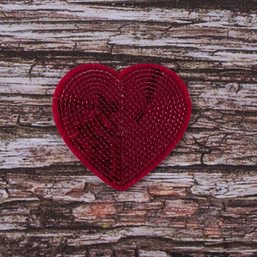 Термоаппликация ТАП 048 сердце красное 6,5*5см фото 1