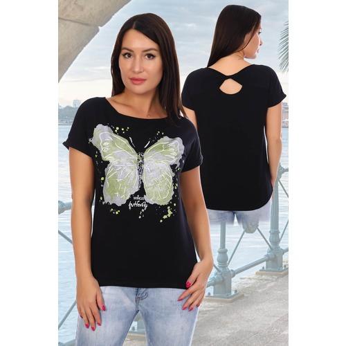 Блузка Элегия 7718 черная р 54 фото 1