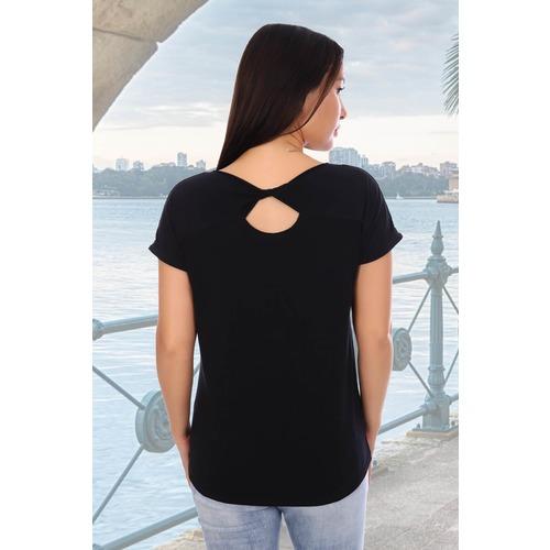 Блузка Элегия 7718 черная р 54 фото 3