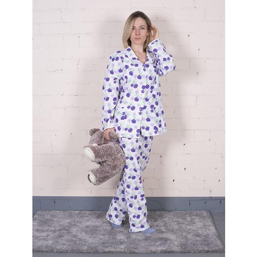 Пижама женская фланель Цветок цвет фиолетовый р 52-54 фото 1