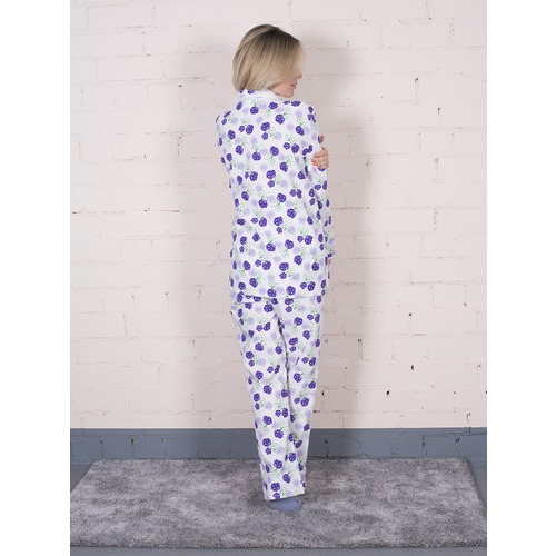 Пижама женская фланель Цветок цвет фиолетовый р 52-54 фото 2