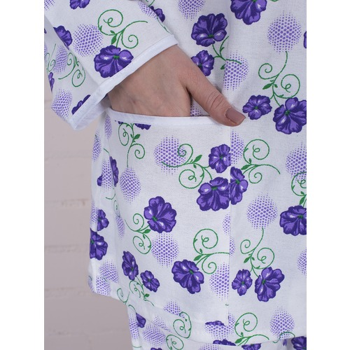 Пижама женская фланель Цветок цвет фиолетовый р 52-54 фото 3