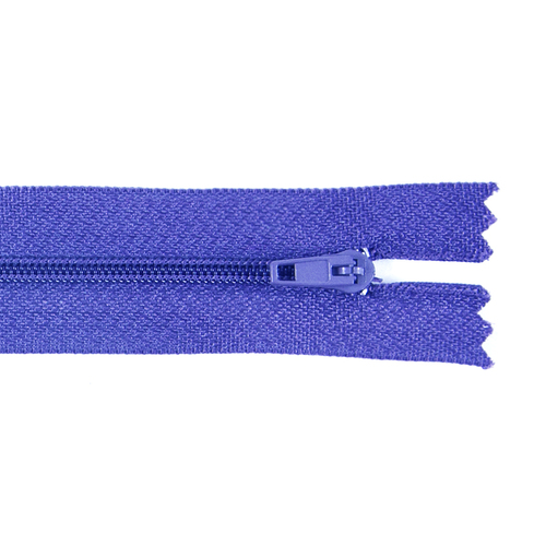 Молния пласт юбочная №3 20 см цвет синий фото 1