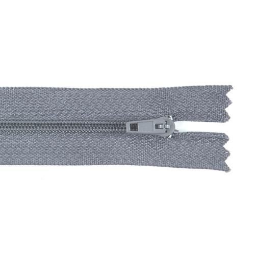 Молния пласт юбочная №3 20 см цвет т-серый фото 1