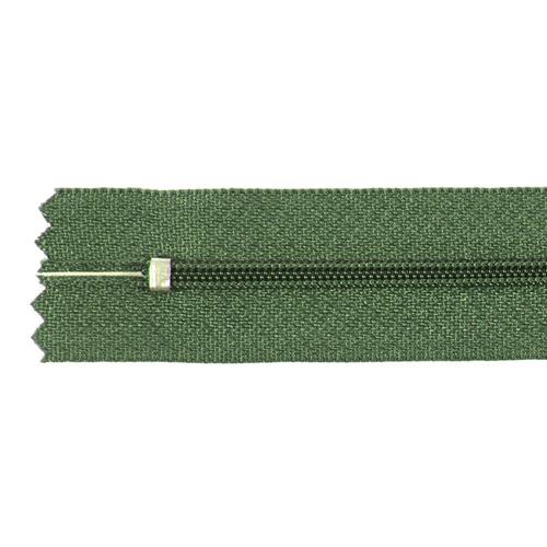 Молния пласт юбочная №3 20 см цвет зеленый фото 2