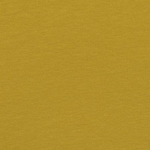 Мерный лоскут футер петля с лайкрой цвет Горчичный 01 1 м фото 1