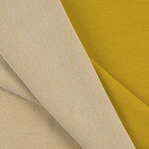 Мерный лоскут футер петля с лайкрой цвет Горчичный 01 1 м фото 2