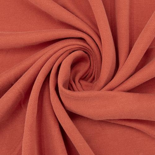 Ткань на отрез лакоста цвет морковный фото 1