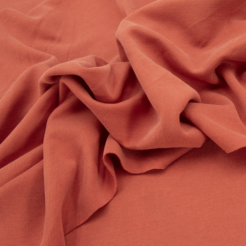 Ткань на отрез лакоста цвет морковный фото 3