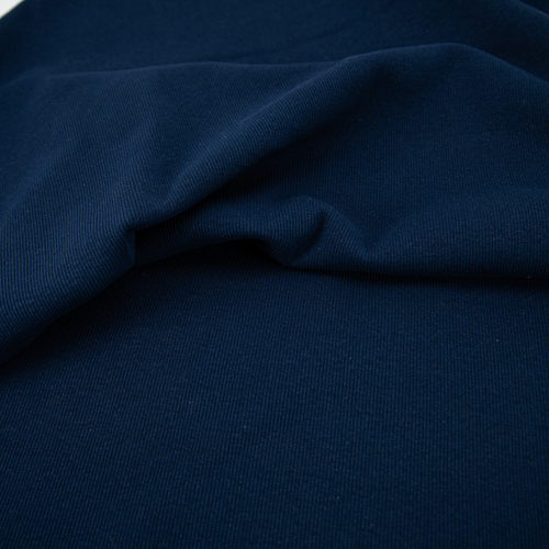 Ткань на отрез кашкорсе с лайкрой 5502-1 цвет темный индиго фото 3