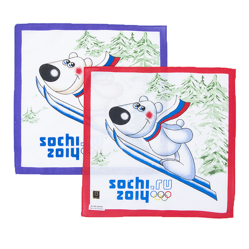 Платки носовые детские 28х28 Сочи (10 шт) фото 1