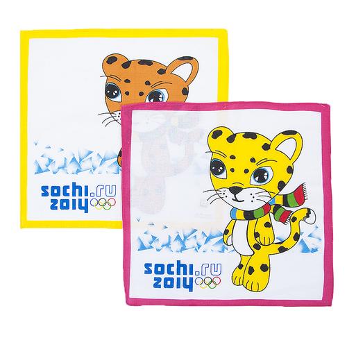 Платки носовые детские 28х28 Леопард (10 шт) фото 1