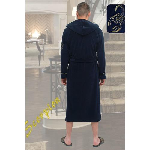Халат Фаворит 5535 цвет темно-синий р 56 фото 2