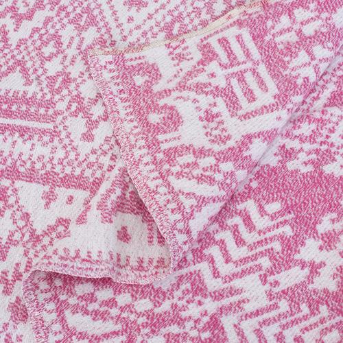 Плед Байковый хб 400 гр цвет розовый 150/210 см фото 3