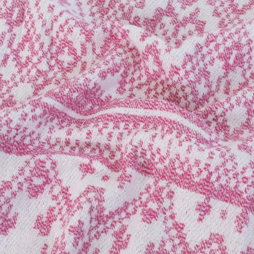 Плед Байковый хб 400 гр цвет розовый 150/210 см фото 4