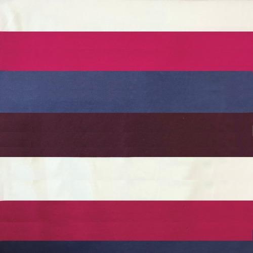 Ткань на отрез пике №1 Полоса бордо фото 1