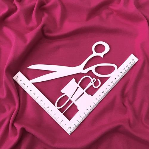 Ткань на отрез интерлок цвет розовый фото 2
