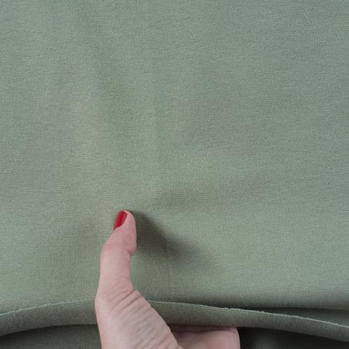 Ткань на отрез рибана с лайкрой 7583 цвет хаки фото 3