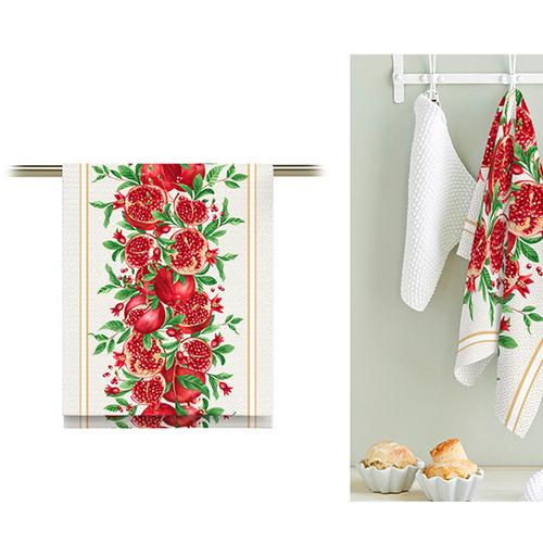 Ткань на отрез вафельное полотно 50 см 5636/1 Гранат фото 2