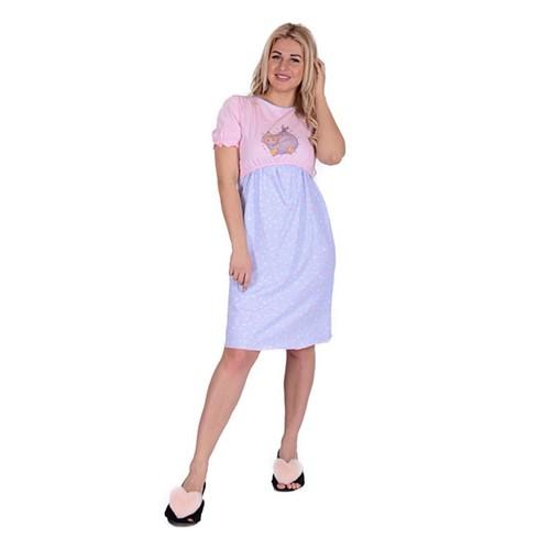 Сорочка ЖС 010 розовый + клетка с рисунком р 56 фото 1