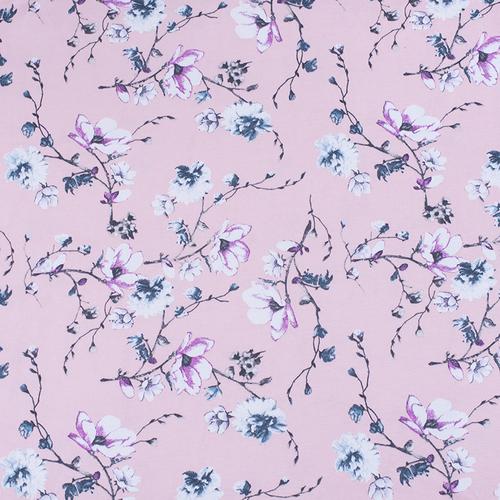 Маломеры кулирка карде Цветы на розовом R6078-V3 1 м фото 1