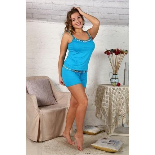 Пижама Лара Однотонная Голубая Г171 р 48 фото 1