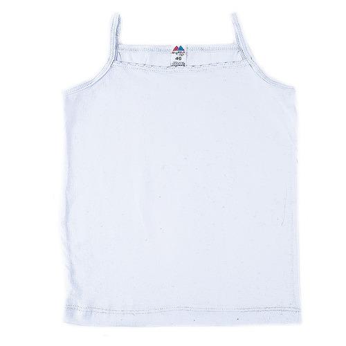 Майка для девочки с рюшами белая 152-158 фото 1
