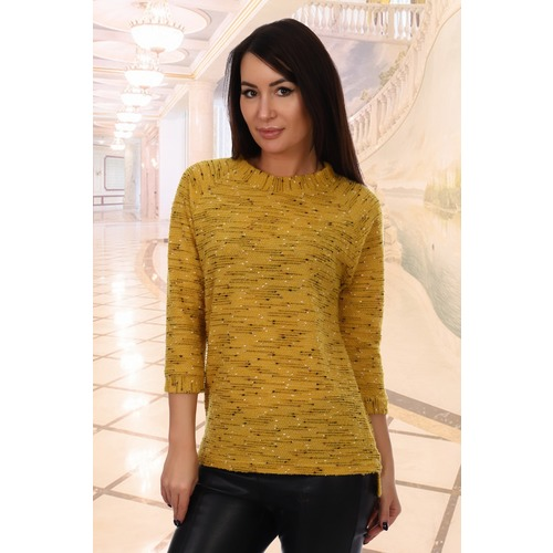 Джемпер Монпансье 5872 цвет желтый р 48 фото 1