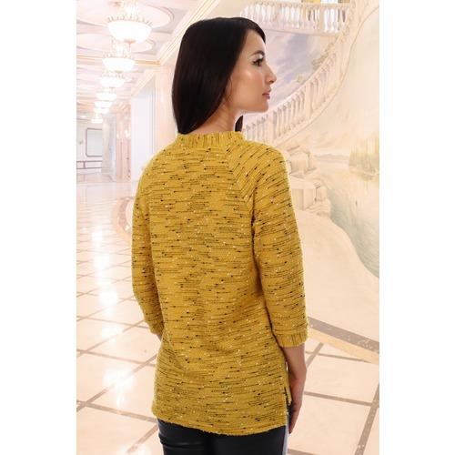 Джемпер Монпансье 5872 цвет желтый р 50 фото 2
