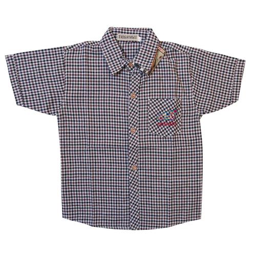 Рубашка детская малая серая клетка 152 см фото 1