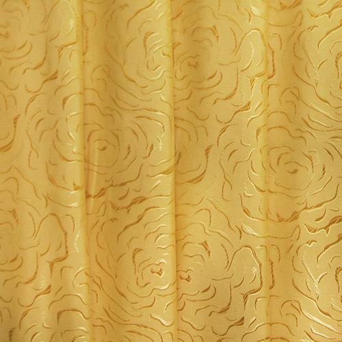 Мерный лоскут портьерная ткань 150 см Роза цвет золото 2,7 м фото 1