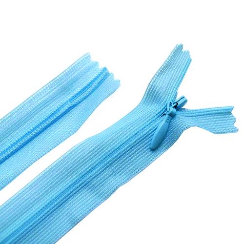 Молния пласт потайная №3 20 см цвет голубой опал фото 1