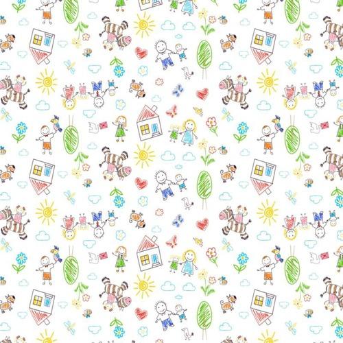 Ткань на отрез фланель 90 см 5539/5 Рисунки карандашами фото 1
