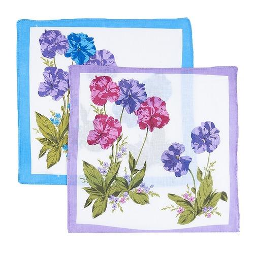 Платки носовые женские 28х28 Цветы 10 шт фото 5