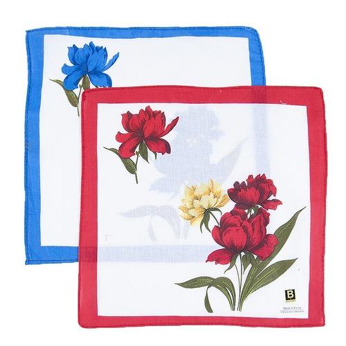 Платки носовые женские 28х28 Цветы 10 шт фото 2