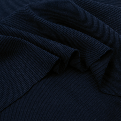 Ткань на отрез кашкорсе 3-х нитка с лайкрой цвет синий фото 3