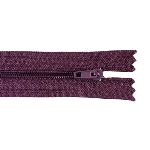 Молния пласт юбочная №3 20 см цвет т-бордовый фото 1