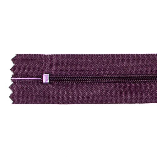 Молния пласт юбочная №3 20 см цвет т-бордовый фото 2