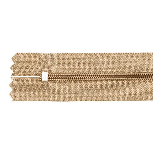 Молния пласт юбочная №3 20 см цвет песочный фото 2