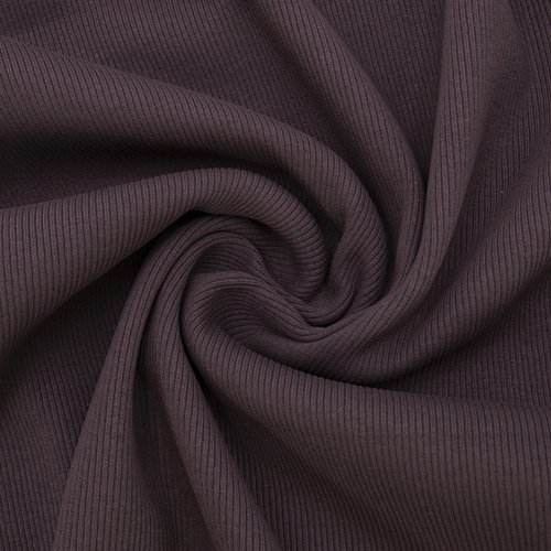 Ткань на отрез кашкорсе 3-х нитка с лайкрой цвет темно-лиловый фото 1