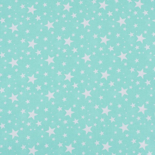 Поплин 150 см 433/16 Звездочка цвет мята фото 1