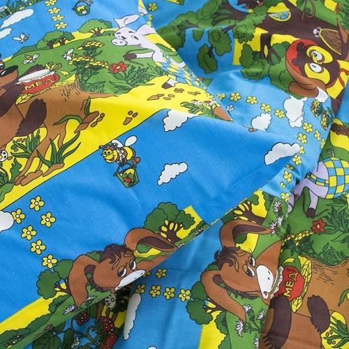 Детское постельное белье из бязи 1.5 сп 820/1 Винни Пух синий фото 3
