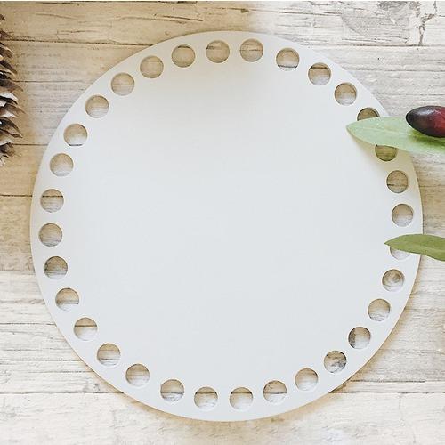 Цветное донышко для корзинки серый круг 15см фото 1
