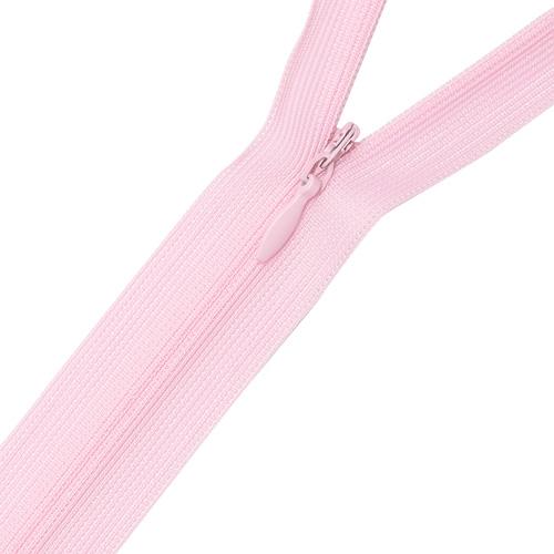 Молния потайная 16см нейлон D274 бледно розовый фото 1