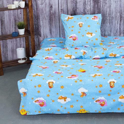 Детское постельное белье из бязи 1.5 сп 4098/2 Облачко голубой фото 1